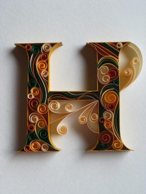 Красивая буква н своими руками